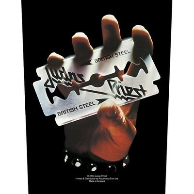 £7.95 • Buy Judas Priest Back Patch Official British Steel Sew On Back Patch Logo Band Badge
