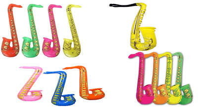 £2.19 • Buy Inflatable Music Instruments Saxophone Fancy Dress Party Accessories Blow Up Toy