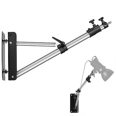 Phot-R Photo Studio 136cm Wall Mount Boom Arm Light Support 5/8  Stud 1/4  3/8  • 32.99£