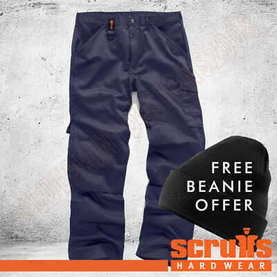 £18.99 • Buy Scruffs WORKER Combat/Cargo Navy Blue Work Trousers ALL SIZE / FREE BEANIE OFFER