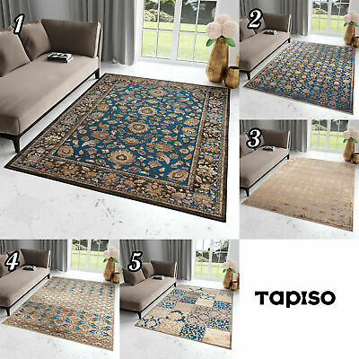 Classical Blue Rug Vintage Style Soft Touch Oriental Design Traditional Carpet • 49.90£