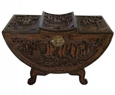 Oriental 20th Century Carved Camphor Wood Hope Chest • 295£