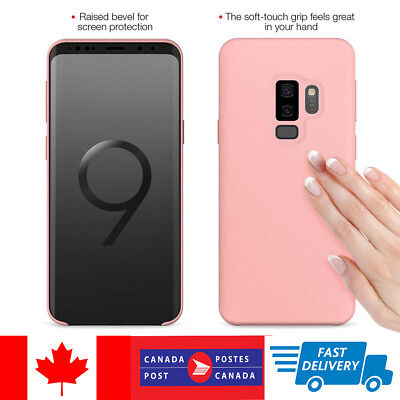 $ CDN8.99 • Buy For Samsung Galaxy S9 S8 Plus Genuine Silicone Soft Liquid Luxury Case Cover