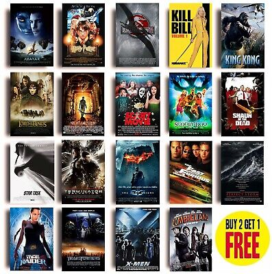 $ CDN6.04 • Buy CLASSIC 2000s MOVIE POSTERS A4 Size Photo Print Film Cinema Wall Decor Fan Art