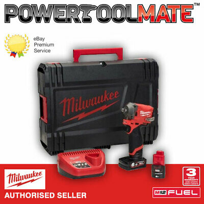£199.99 • Buy Milwaukee M12FIW38-622X FUEL 3/8in Impact Wrench With Batteries & Case