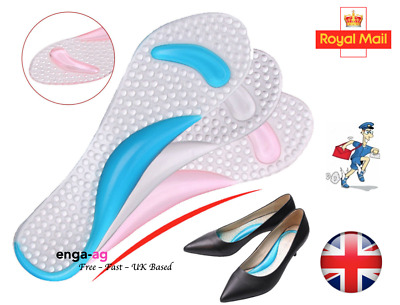 Pair Of High Heel Gel Foot Insoles Pads Shoe Cushion Inserts Arch Support • 3.38£