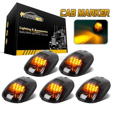 $39.80 • Buy 5xSmoked Roof Top Car Truck SUV Cab Marker 264146BK Clearance Amber 12LED Lights