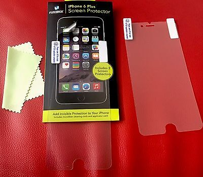 AU7 • Buy Protectors Screen X 2 For IPhone 6 Plus +Cleaning Cloth, Dings & Scratch Free