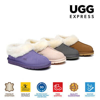 AU60 • Buy UGG Slippers AS*Homey, Unisex, Premium Australian Sheepskin,Suede Upper