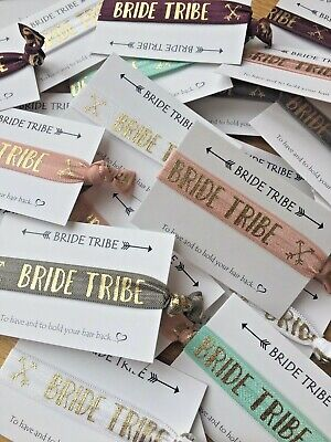 Bride Tribe Wristbands /hair Ties Bachelorette Hen Party Accessories & Favours • 1£