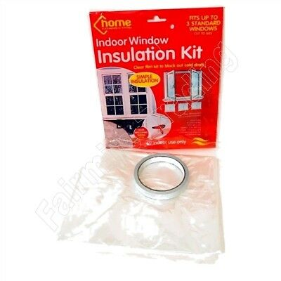 £2.59 • Buy Window Insulation Kit Clear Shrink Fit Double Glazing Film Draught Excluder Cold