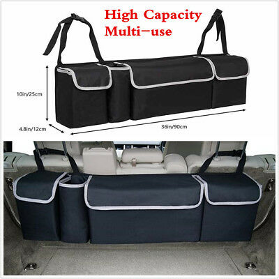 $15.91 • Buy Black High Capacity Multi-use Car Seat Back Organizers Bag Interior Accessories