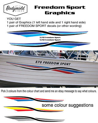 AU138 • Buy Quintrex Style Freedom Sport Graphics 2400mm Long Graphics