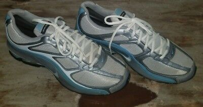 adb73acad64 Nike Reax Run 5 Women s Active Running Shoe Size 9.5 White Silver   Light  Blue •