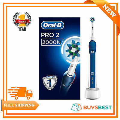 View Details Oral-B Pro 2000 CrossAction Electric Rechargeable Toothbrush - PRO2000N • 35.99£