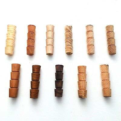 Hardwood & Softwood Wooden Timber Cross Grain Tapered Pellets Plugs 1/2  12.7mm • 5.25£