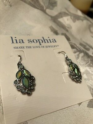$ CDN15.15 • Buy Lia Sophia Silver Iridescent Blue Green Earrings