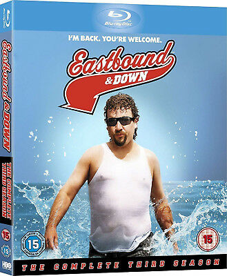 EASTBOUND AND DOWN COMPLETE SERIES 3 Blu Ray 3rd Third Season Three UK Releas R2 • 13.65£