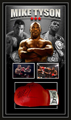 AU995 • Buy MIKE TYSON SIGNED FRAMED EVERLAST RED BOXING GLOVE - BECKETT USA Authenticated