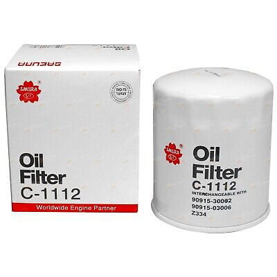 AU24.95 • Buy Oil Filter Sakura C1112 (Z334) Suits 1HZ 1HDT 4.2L 70 80 100 Series Diesel