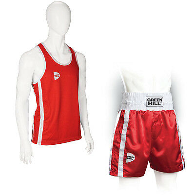£26.69 • Buy Complete Mens Boxing Tank Top + Shorts Boxing Red GREEN HILL Vest