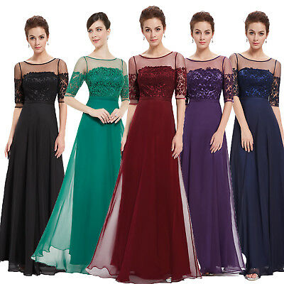Ever Pretty Chiffon Long Prom Dress Bridesmaid Dresses  Gown Evening Party UK • 24.99£