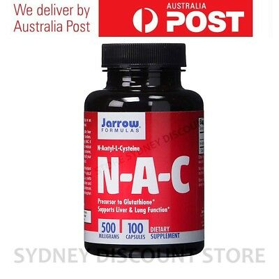 AU39.21 • Buy Jarrow NAC N-Acetyl Cysteine 100 Capsules 500mg NEW