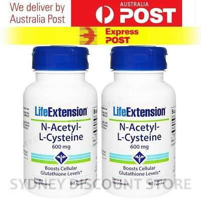 AU69.11 • Buy BULK SALE!! Life Extension N-Acetyl Cysteine NAC 600mg 60 Caps X 2