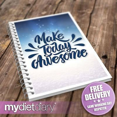WEIGHT WATCHERS COMPATIBLE FOOD DIARY - Make Today Awesome (W031W) 12wk Diet • 5.95£