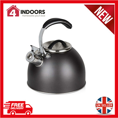 Morphy Richards 974757 3L Stove Top Whistling Kettle In Titanium - Brand New • 17.95£