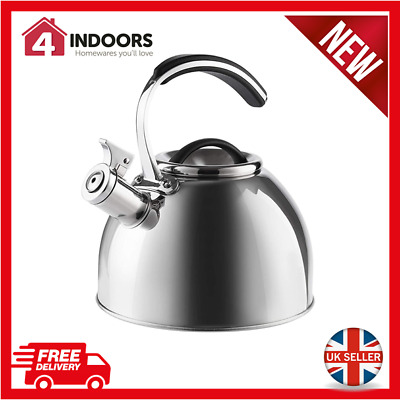 Morphy Richards 974759 3 Litre Stove Top Whistling Kettle In Silver - Brand New • 19.95£