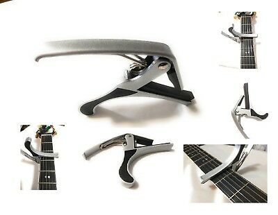 $ CDN9.70 • Buy Guitar Capo Quick Change Acoustic Guitar Silver Trigger Capo Key Clamp USA