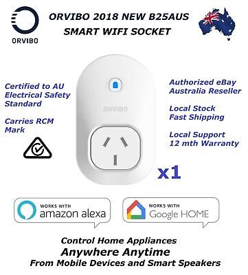 AU18 • Buy ORVIBO B25AUS Smart WiFi Socket Remote Control Via Mobile/Alexa/Google Home