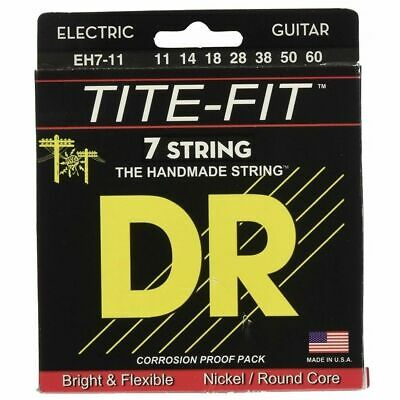 AU19.50 • Buy DR Strings Tite Fit Electric Round Core 7 String Electric Guitar Strings 11 - 60