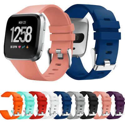 $ CDN5.98 • Buy Replacement Silicone Watch Band Strap For Fitbit Versa Wristband Small Large