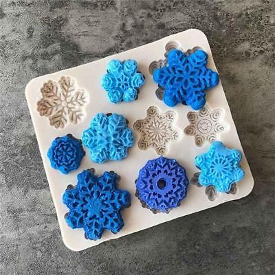 £2.56 • Buy Snowflake Fondant Cake Mold Soap Chocolate Candy Mould Silicone DIY Decor N7