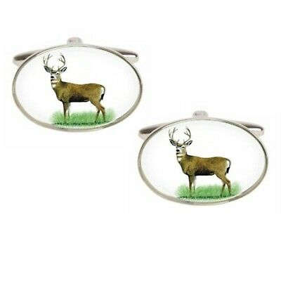British Made Dalaco Oval Stag Cufflinks  DAL90-1456 • 23.95£