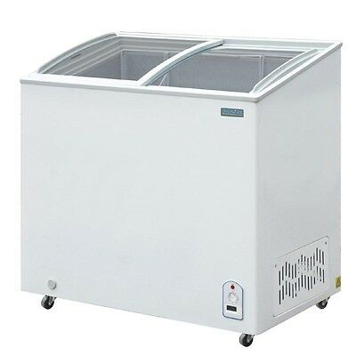 Polar Commercial Display Chest Freezer With Sliding Glass Lid Capacity 200 Ltr • 469.99£