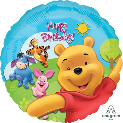 AU8.95 • Buy Winnie The Pooh Happy Birthday Foil Balloons 1st Party Decoration 45cm