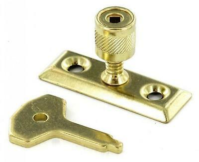 £2.50 • Buy Window Lock For Casement Stay Lock Brass Plated Key And Screws Included