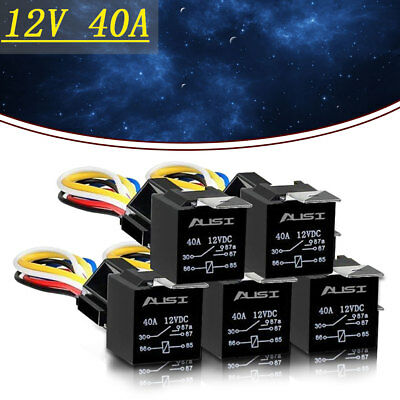 5pcs car dc 12v 3040 a spdt automotive 5 pin 12 awg wire automotive relay mini compare prices on dealsan com