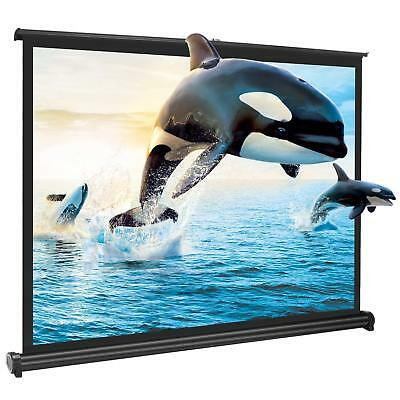 £55.99 • Buy Portable 50 Inch 4:3 HD Pull Down Projector Projection Screen HomeCinema Theater