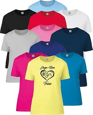 £10 • Buy Ladies Girls Personalised Horse Riding Equestrian Pony Love Heart T Shirt