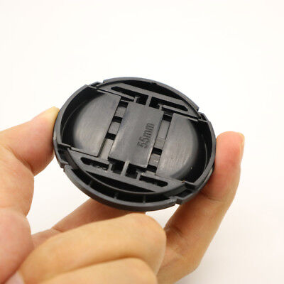 AU2.57 • Buy 55mm Front Lens Cap Hood Cover Snap On For Sony Nikon Minolta Leica Tamron Canon