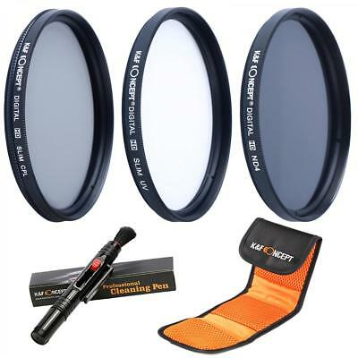 K&F Concept 52mm UV ND4 CPL Filter Kit + Lens Cleaning Pen For Canon Nikon Sony • 20.99£
