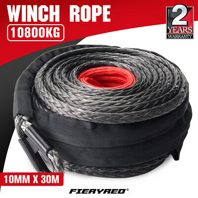 AU99.95 • Buy Winch Rope 10mm X 30m Dyneema SK75 Synthetic Rope Tow Recovery Offroad 4x4