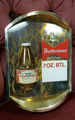 $ CDN53.74 • Buy Vintage NOS BUDWEISER 7 Oz. Bottle Beer Sign 3D Display