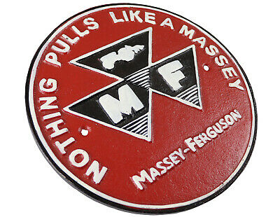 £18 • Buy Nothing Pulls Like A Massey Ferguson Tractor - Cast Iron Sign Plaque