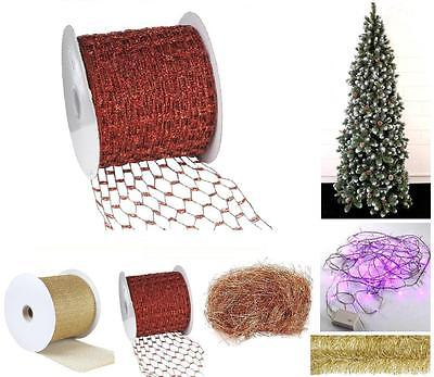 TAPE Net RED LAMINATED CM.10H M45,5 For TREES AND CRIB NATALE NA0131 • 45.02£