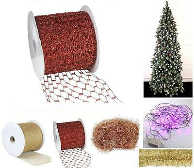 Tape Net Red Laminated CM.10H Mt.45,5 For Trees And Nativity Christmas NA0131 • 43.42£